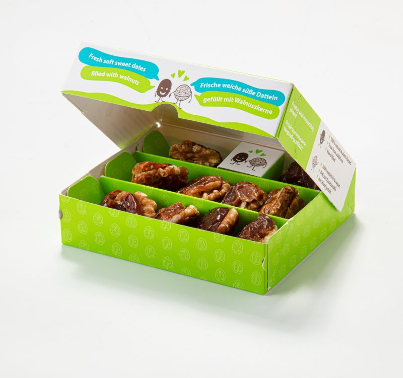 Dates filled with walnuts